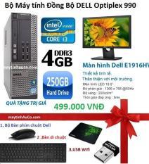 Máy Tính Để Bàn Dell Optiplex 990 SFF + Màn Hình Dell 19inch Full-HD (Core Ii3 2100, Ram 4GB, 250gb) + Quà Tặng – Hàng Nhập Khẩu