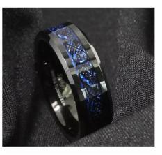 Nhẫn nam titan đá xanh cực đẹp