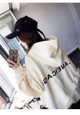 Áo Hoodie nữ dài tay thời trang, thiết kế phối màu độc đáo, cá tính
