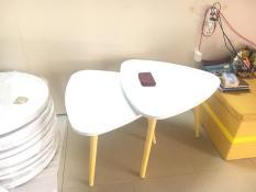 BSF – Cặp bàn tam giác sofa 60-60, bàn cafe, bàn trà, bàn coffee, bàn gỗ phòng khách, bàn cà phê