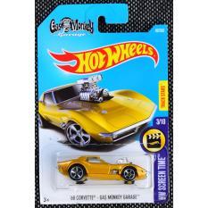 Ô tô mô hình tỉ lệ 1:64 Hot Wheels '68 Corvette Gas Monkey Garage 99/365 ( Màu vàng )