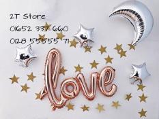 Bong bóng nhôm chữ Love liền