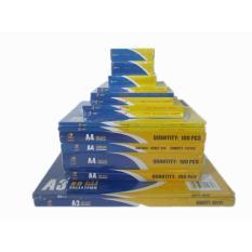 Combo bộ 6 giấy ép plastic đủ loại : CMND, Bằng lái xe, Khổ A6, Khổ A5, Khổ A4 , khổ A3 mỗi loại 1 hộp, 1 hộp = 100 cái