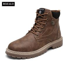 Rozalo RM6823-Giày boot nam cao cấp chống thấm chống trơn trượt