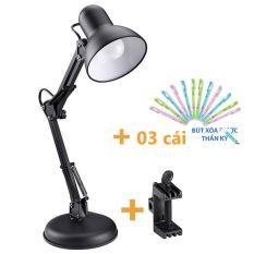 Đèn bàn pixar có đế tự đứng , đèn để bàn, đèn học chống cận, Đèn học, làm việc, đọc sách để bàn kiểu kẹp tặng kèm đế và 03 bút bi xóa được