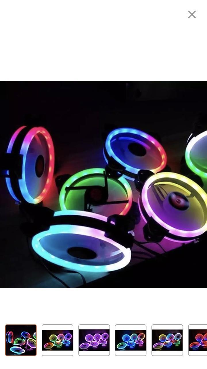 Nên mua [Combo 5 Fan+Khiển] Quạt tản nhiệt Led RGB gaming. ở HOA LỢI