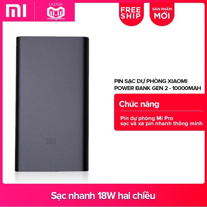 Giá Pin sạc dự phòng Xiaomi Power Bank Gen 2 10000mAh (Đen) – Hãng phânphối chính thức Tại Xiaomi