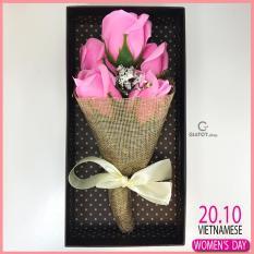Hoa hồng sáp thơm 5 bông – Qùa tặng ý nghĩa trong tình yêu