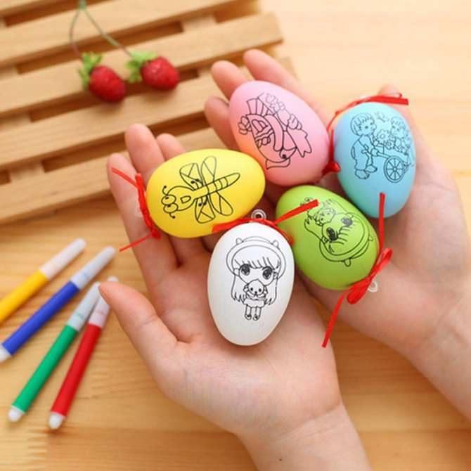 Trứng tô màu cho bé giao hàng ngẫu nhiên