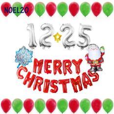 Sét Bóng Trang Trí Chủ Đề Giáng Sinh Noel