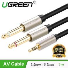 Cáp âm thanh 3.5mm ra 2 đầu 6.5mm mạ vàng 24k dài 1M UGREEN AV126 40790 – Hãng phân phối chính thức