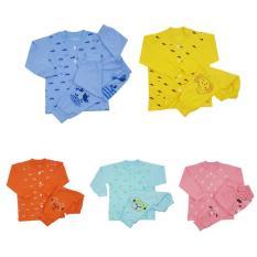 Bộ quần áo thun cổ trụ cho trẻ em thương hiệu Thái Hà Thịnh (có 5 màu, chất liệu cotton 100%)