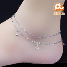 Lắc chân nữ inox cao cấp sang trọng rẻ đẹp không đen HCM – MP-LCNU67