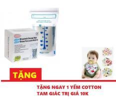 [Giá sốc + quà tặng 1 yếm cotton] Hộp 60 túi trữ sữa Unimom Compact – 210ml
