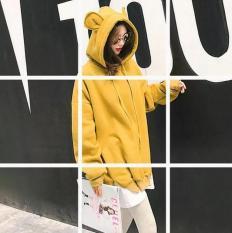 Áo nỉ tai gấu big size màu vàng size xxl