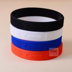 Bộ 4 vòng cao su bảo vệ và trang trí ống kính Canon size L