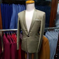 Áo vest nam hàn quốc ôm body kiểu đơn giản màu đồng