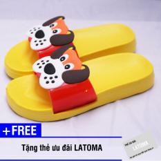 Dép trẻ em chất liệu xốp cao cấp Latoma TA1183 (Vàng)+ Tặng kèm thẻ ưu đãi Latoma