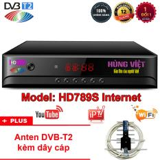 Đầu thu kỹ thuật số Hùng Việt DVB T2 HD789S – Tặng Anten KTS DVB-T2 trị giá 85.000đ