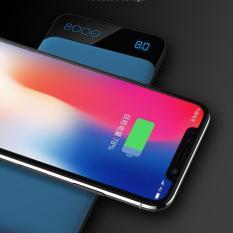 Sạc nhanh không dây chuẩn Qi kiêm pin dự phòng 8000 mAh cho các dòng smartphone Iphone 8, iphone X, Note8 Rockspace P39
