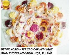 SET 50 Gói Trà Detox hoa quả sấy khô, DETOX KOREA – SET CAO CẤP KÈM MẬT ONG- KHÔNG kèm bình, hộp, túi vải [CÓ ẢNH THẬT]