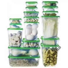 Bộ 17 hộp chia thực phẩm bảo quản tủ lạnh