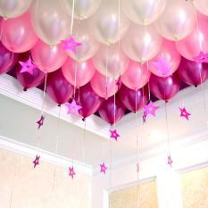 Bộ 100 vỏ bóng bay màu hồng nhũ nhạt, đậm và bạc