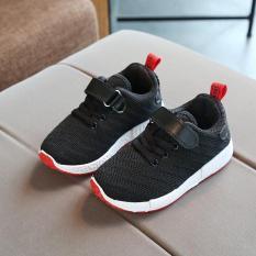 Giày thể thao siêu nhẹ cho bé – đen/trắng/hồng – Size 26 đến 37 – V57