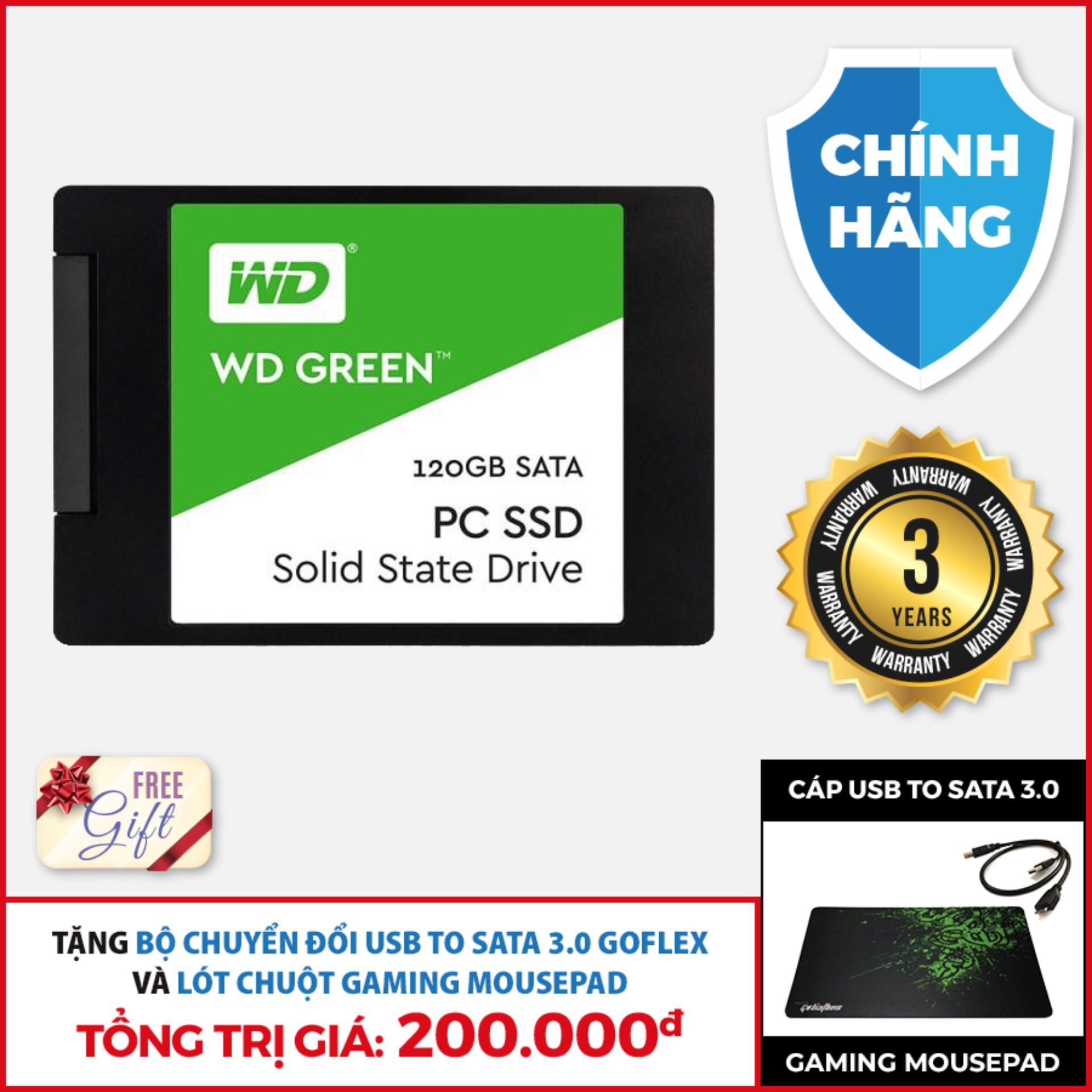 Giá Ổ cứng SSD WD Green 120Gb Sata 3, 2.5 inch Tại TIN HỌC TAT