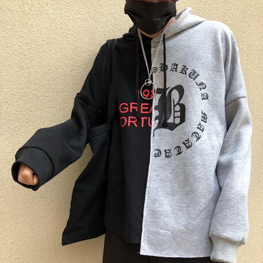 áo hoodie swag phối màu Mã: NT1962 – ĐEN XÁM