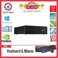 Máy tính chơi gameHP EliteDesk 800 G1 SFF Chạy CPU Core i7-4770, Ram 12GB, SSD 120GB, HDD 2TB + Bộ Quà Tặng – Hàng Nhập Khẩu