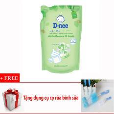 Nước rửa bình sữa và rau củ quả Dnee (600ml) + Tặng dụng cụ cọ rửa bình sữa