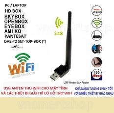 Usb thu wifi 802.11N MT7601Anten Wifi 8dbi thu sóng wifi cực khoẻ. bộ thu wifi cho máy tính, anten wifi cho đầu thu DVB-T2 /S2 (đen)