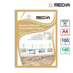 Giấy In Màu Media 2 Mặt Mờ (Matte) A4 (21 x 29.7cm) 140gsm 100 tờ