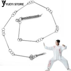YYSL Wushu Whip Metal Whip Silver Stainless Steel Martial Art Equipment