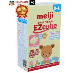 Sữa Meiji Infant thanh 0 EZcube T12 432g