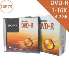 Đĩa trắng DVD-R 4.7GB 120min 1x-16X Sony DMR47SS (10 chiếc – 1 lốc)