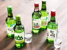 Soju chamisul chum churum, combo 4 chai mix 4 vị