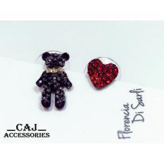 Khuyên tai gấu bông tình yêu phong cách hàn quốc CKN-106