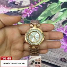 [TẶNG NGAY KÍNH CON ONG CAO CẤP] Đồng hồ cho phái nữ với thiết kế đá chạy thời trang cùng dây thép bóng đẹp tạo sức hút cho bạn gái G36-V3GF