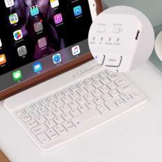 Bàn phím bluetooth cho iPad iPhone, smartphone và máy tính bảng – Trắng