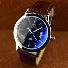 Đồng hồ nam thời trang nam có lịch ngày dây da cao cấp Yazole DA09
