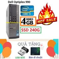 Thùng Đồng Bộ Dell Optiplex 990 (Core i5 2400 / 4G / SSD 240G ), Tặng USB Wifi , Bàn di chuột , Bảo hành 02 năm – Hàng Nhập Khẩu