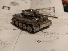 Mô hình xe Tiger tank bằng thép không gỉ