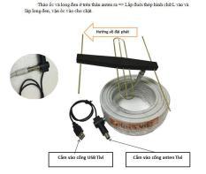 Anten khuếch đại + dây anten 15m + dây cấp nguồn