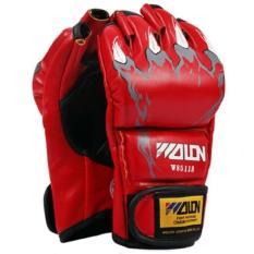 Găng tay đấm boxing hở ngón MMA Wolon (đỏ)
