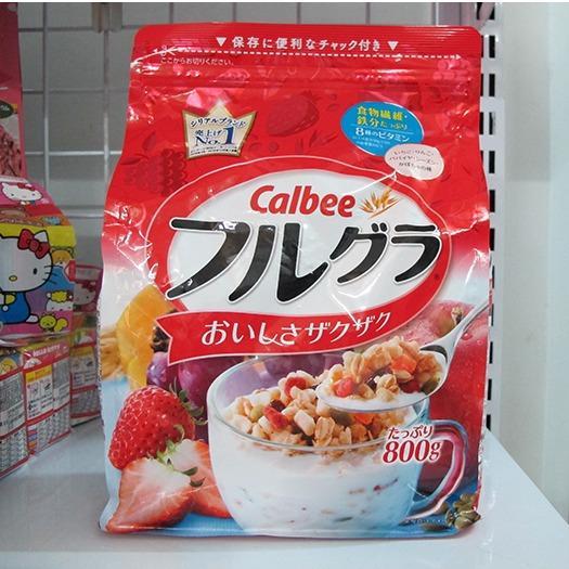 Date 08.2018 Ngũ cốc dinh dưỡng Calbee Nhật Bản