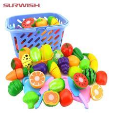 Bộ đồ chơi cắt ghép trái cây bằng nhựa cho bé(20 món)