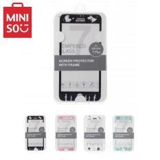 Miếng dán cường lực bảo vệ màn hình Miniso Moomin Family full viền cho Iphone 7 Plus (Màu sắc bất kỳ)