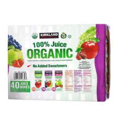 Nước ép hoa quả Kirkland 100% Juice Organic – 40 hộp
